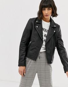 Кожаная куртка Selected Femme - Черный