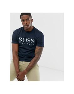 Темно-синяя футболка с логотипом BOSS Tauch 1 - Темно-синий