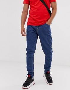 Синие суженные книзу джинсы слим Weekday Cone - Синий