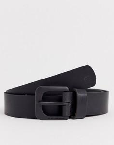 Черный кожаный ремень G-Star Zed - Черный