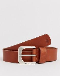 Светло-коричневый кожаный ремень G-Star Zed - Рыжий