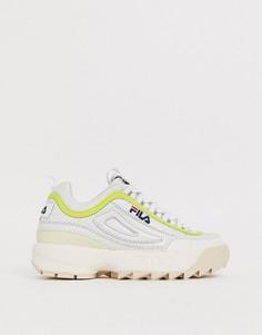 Серо-белые кроссовки Fila Disruptor Luxe - Бежевый