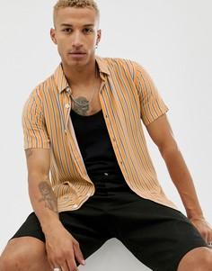 Рубашка в полоску желтого и белого цвета Topman - Желтый