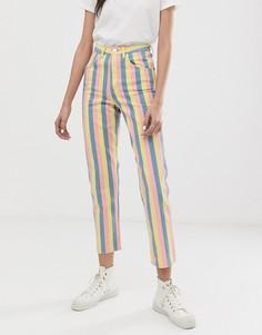 Полосатые джинсы в винтажном стиле с завышенной талией Wrangler - Мульти