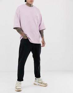 Черные джинсы свободного кроя с укороченными штанинами Weekday Bobbin - Черный