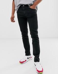 Черные джинсы скинни Weekday - Friday - Черный