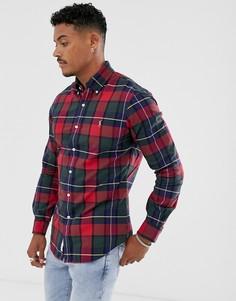 Облегающая рубашка в красную клетку и с логотипом в виде игрока поло Polo Ralph Lauren - Красный