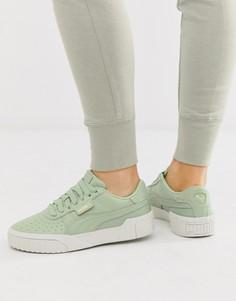 Зеленые кроссовки Puma Cali - Зеленый