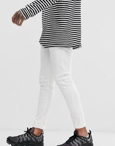 Белые джинсы скинни с 5 карманами Bershka - Белый