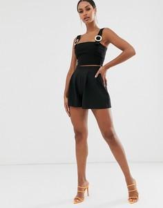 Черные короткие шорты Vesper - Черный