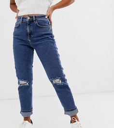 Синие узкие джинсы в винтажном стиле New Look Petite - Синий