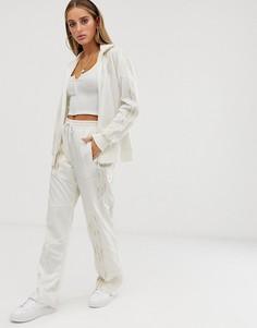 Белые деконструированные спортивные брюки adidas Originals x Danielle Cathari Firebird - Белый