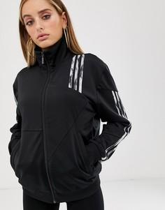 Черная деконструированная спортивная куртка adidas Originals x Danielle Cathari Firebird - Черный
