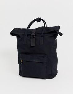 Большой парусиновый рюкзак с отделение для ноутбука ASOS DESIGN - Черный