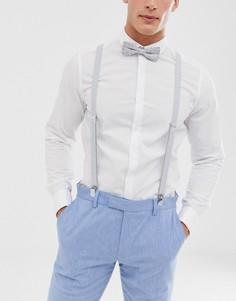 Серые подтяжки и галстук-бабочка с принтом пейсли ASOS DESIGN - Серый