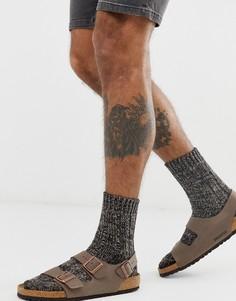 Коричневые меланжевые носки с высоким содержанием хлопка Birkenstock - Коричневый