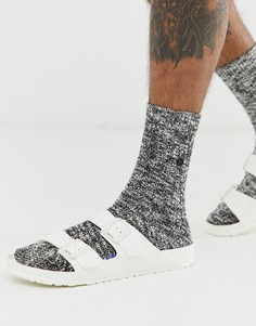 Черные меланжевые носки с высоким содержанием хлопка Birkenstock - Черный