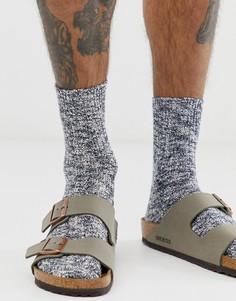 Синие меланжевые носки с высоким содержанием хлопка Birkenstock - Синий