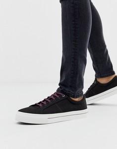 Черные парусиновые кроссовки Ted Baker - esheron - Черный
