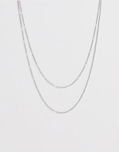 Серебристая цепочка в два ряда DesignB - Серебряный