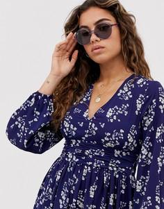 Круглые солнцезащитные очки в сиреневой оправе Ray-Ban 0RB4304 - Фиолетовый