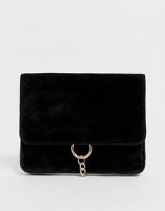 Замшевая сумка через плечо с цепочкой Urbancode - Черный