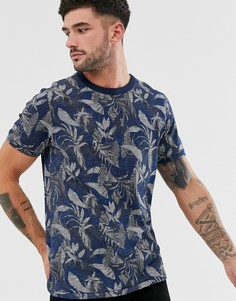Синяя футболка с принтом Jack & Jones Premium - Синий
