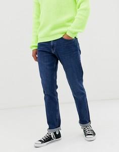 Синие джинсы прямого кроя Weekday Easy - Синий