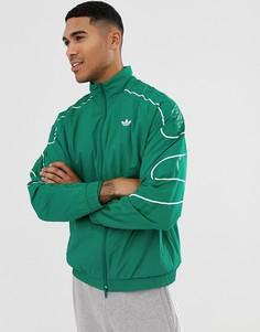Зеленая спортивная куртка adidas Originals - flamestrike - Зеленый