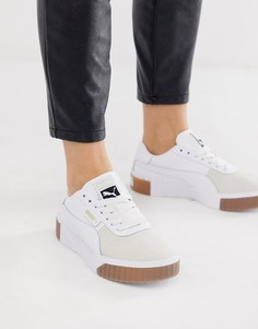 Белые кроссовки с резиновой подошвой Puma Exotic Cali - Белый