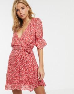 Платье мини с цветочным принтом Stevie May Claret - Красный