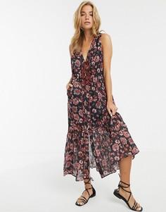 Платье миди с цветочным принтом Stevie May Dakota - Мульти