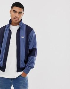 Темно-синяя спортивная куртка в полоску adidas Originals - Темно-синий