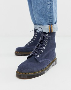 Синие замшевые ботинки с 1460 парами люверсов Dr Martens 1460 Pascal - Синий