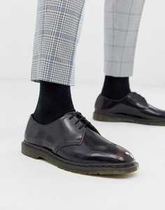 Вишнево-красные ботинки с люверсами Dr Martens - Archie (3 пары люверсов - Красный