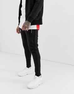 Спортивные брюки со сплошным принтом Couture Club - Черный