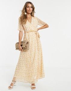 Чайное платье макси с цветочным принтом Y.A.S - Белый