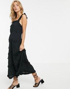 Ярусное платье макси Stevie May Tessa - Черный