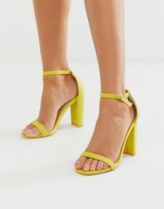 6a3c33bcb561 Ярко-желтые босоножки на блочном каблуке Glamorous - Желтый