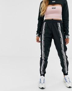 Черные спортивные брюки с отделкой лентой adidas Originals RYV - Черный