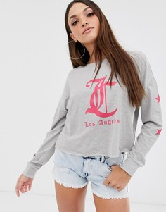 Лонгслив с принтом Los Angeles Juicy by Juicy Couture - Серый