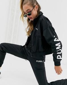 Черная тканая куртка Puma Chase - Черный