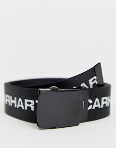 Черный ремень с белой надписью Carhartt WIP - Черный