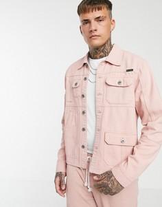 Розовая куртка в стиле милитари Liquor N Poker - Розовый