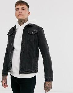 Черная джинсовая куртка Liquor N Poker - Черный