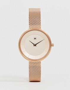 Часы цвета розового золота с сетчатым браслетом MVMT Mod - Золотой