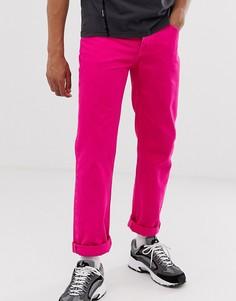 Ярко-розовые джинсы ASOS DESIGN - Розовый