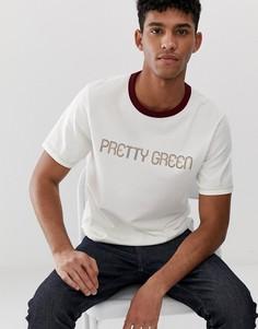 Белая футболка с логотипом-надписью Pretty Green - Белый