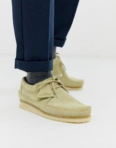 Замшевые туфли Clarks Originals - Бежевый