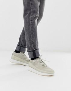 Белые спортивные кроссовки на массивной подошве Clarks Originals kiowa - Белый